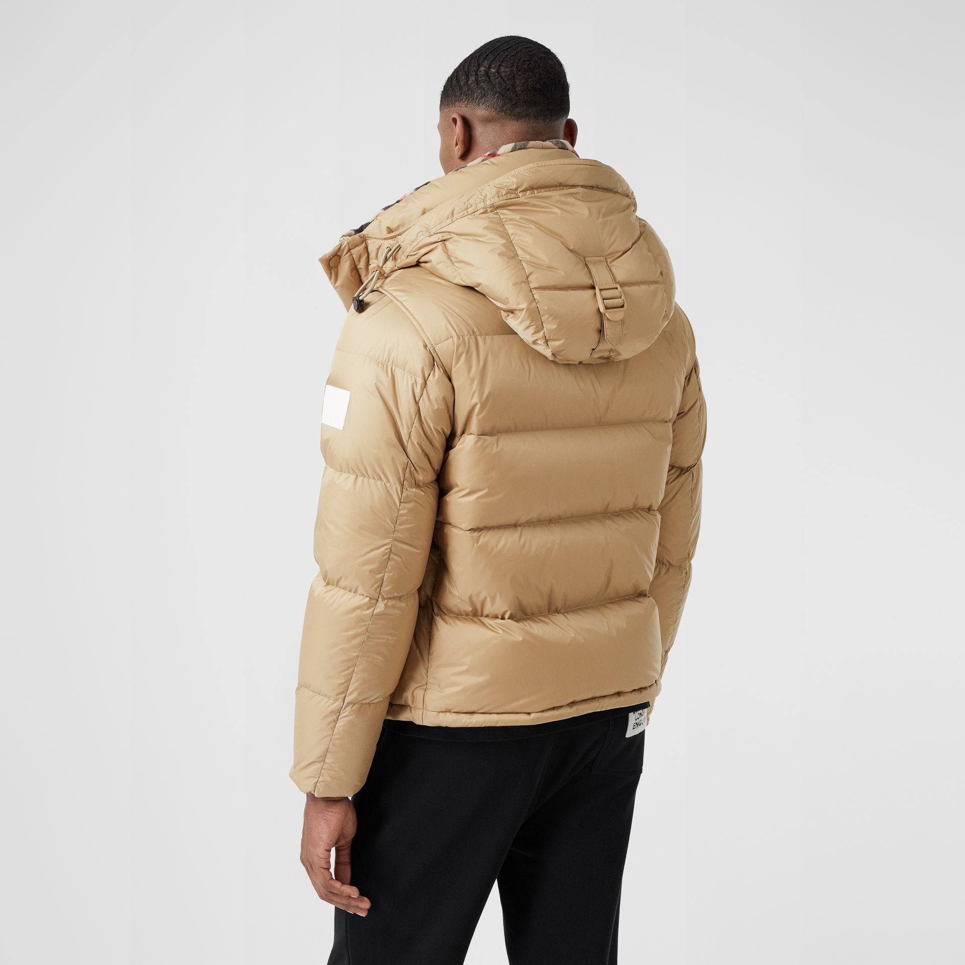 Detachable Sleeve Hooded Puffer Jacket in Honey - Men | Burberry - gallery image 2
