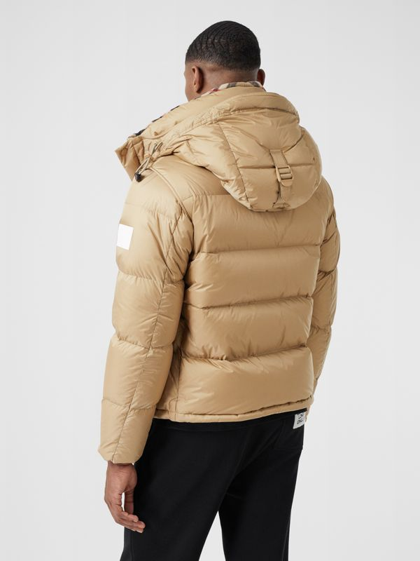 Detachable Sleeve Hooded Puffer Jacket in Honey - Men | Burberry - cell image 2