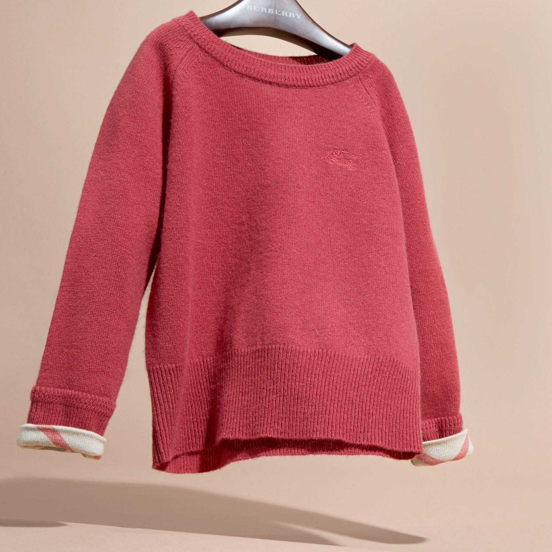 Peony rose Check Cuff Cashmere Sweater Peony Rose - gallery image 3