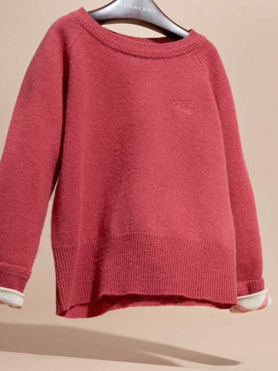 Peony rose Check Cuff Cashmere Sweater Peony Rose - cell image 2