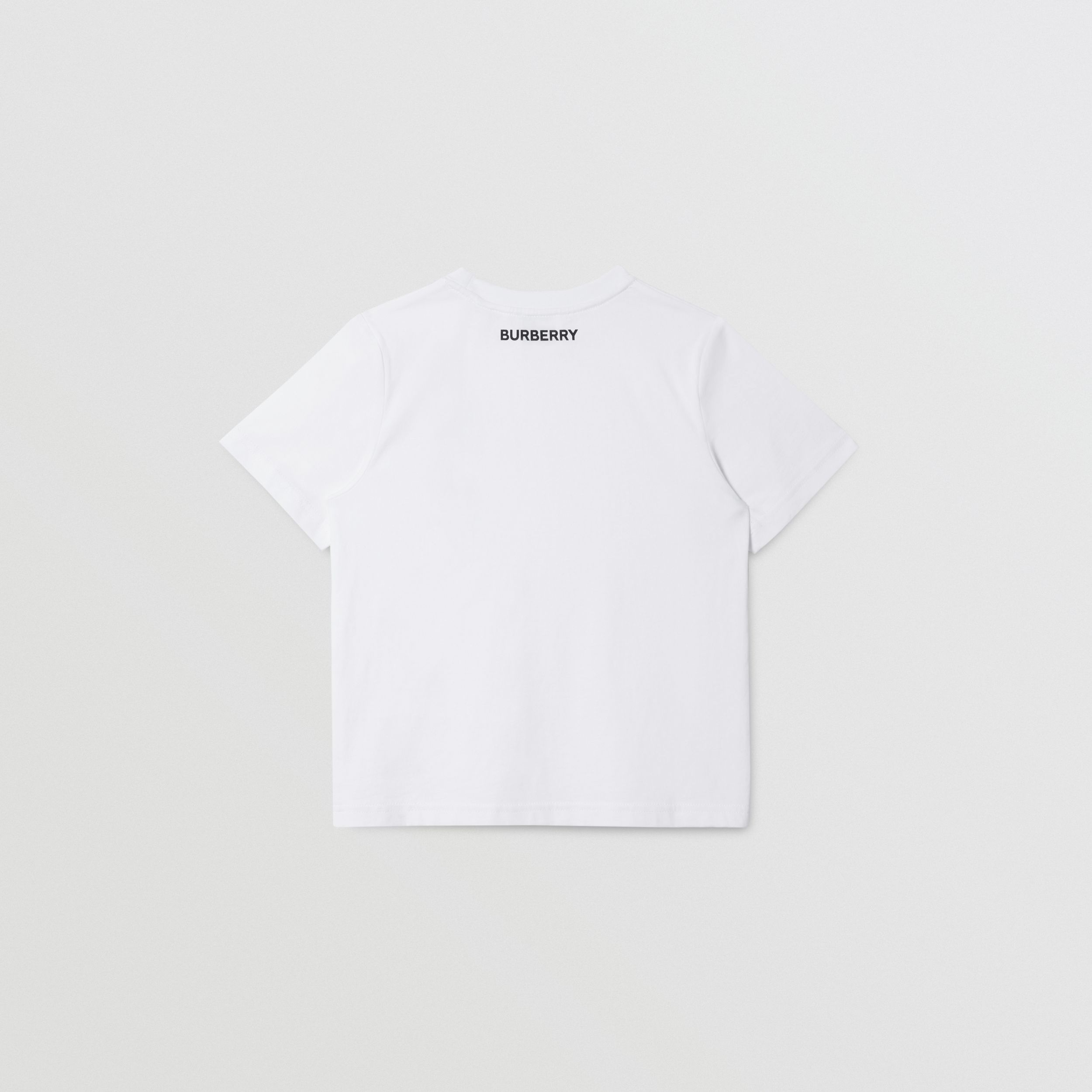 Unicorn Slogan Print Cotton T-shirt in White | Burberry - 4