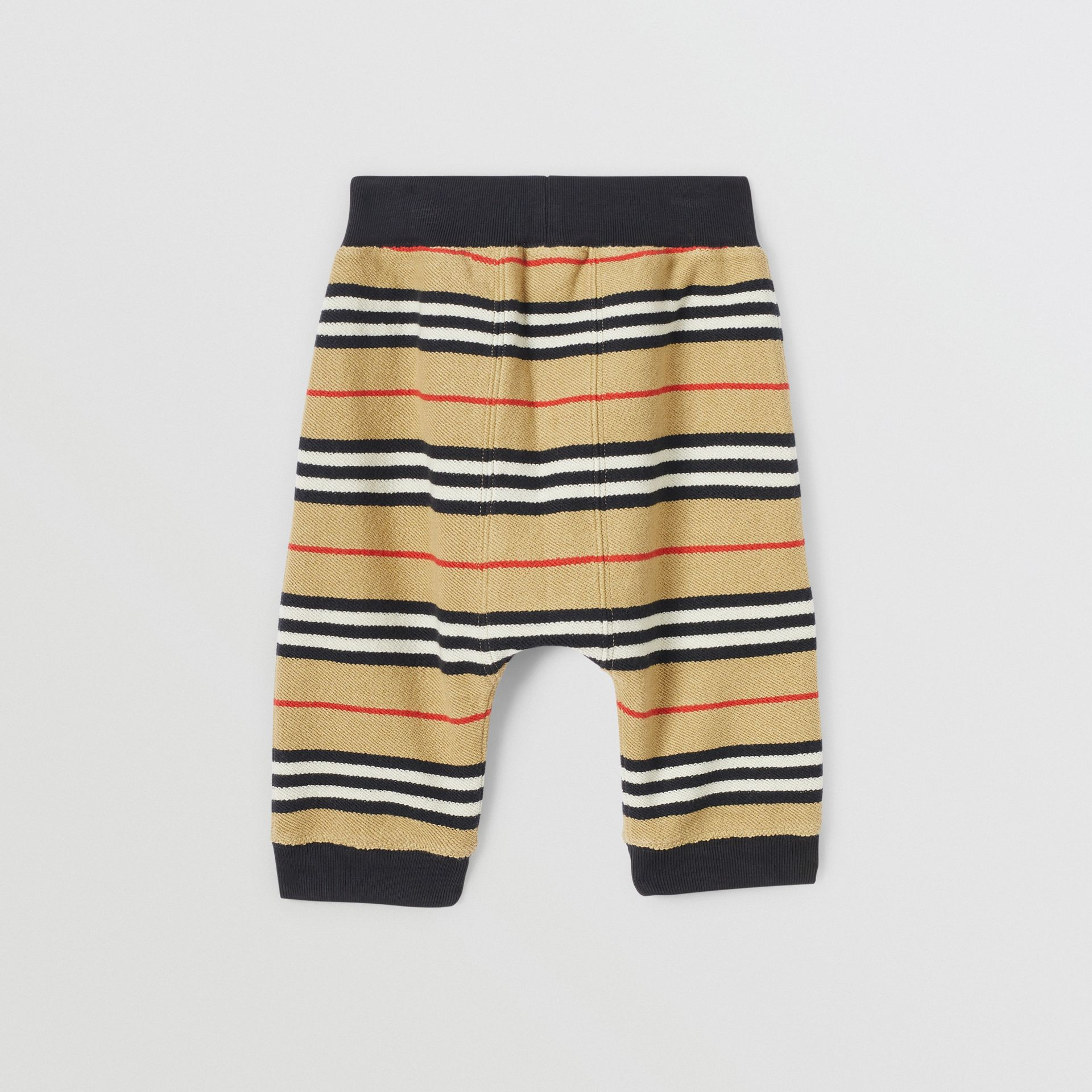 Icon Stripe Cotton Trackpants in Archive Beige - Children | Burberry United Kingdom - gallery image 4