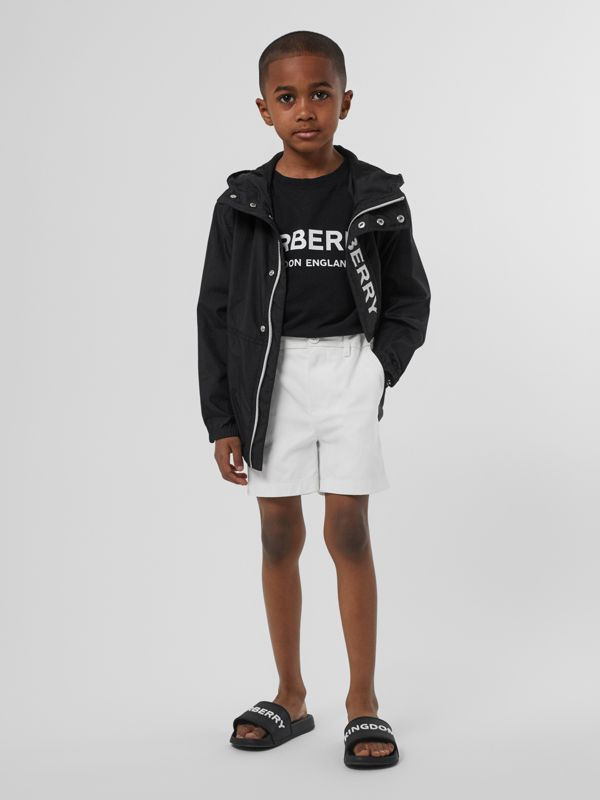 Cotton Chino Shorts in Optic White - Children | Burberry - cell image 2