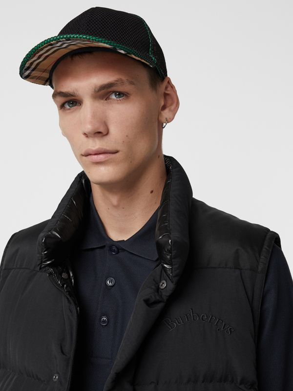 Vintage Check and Mesh Baseball Cap in Black | Burberry Canada - cell image 3