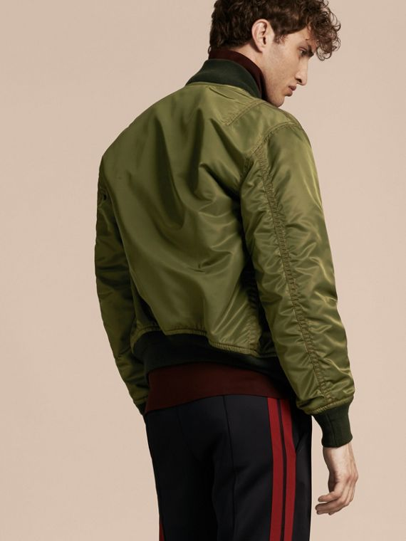 Light military green Oversize Bomber Jacket - cell image 2