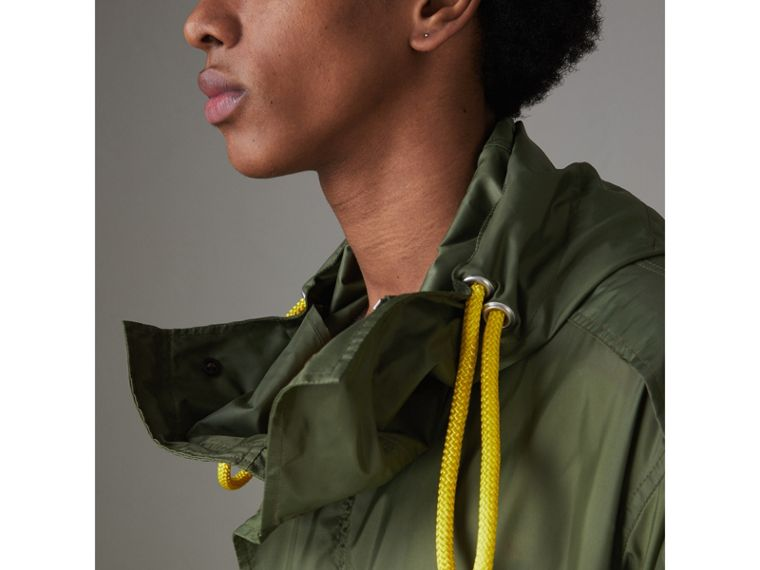 Oversized Technical Parka in Light Olive - Men | Burberry - cell image 1