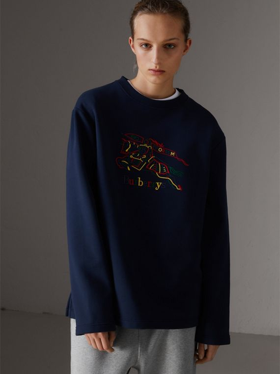 Reissued Jersey Sweatshirt in Dark Blue