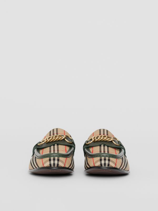 The 1983 Check Link Loafer in Dark Forest Green - Women | Burberry Australia - cell image 3