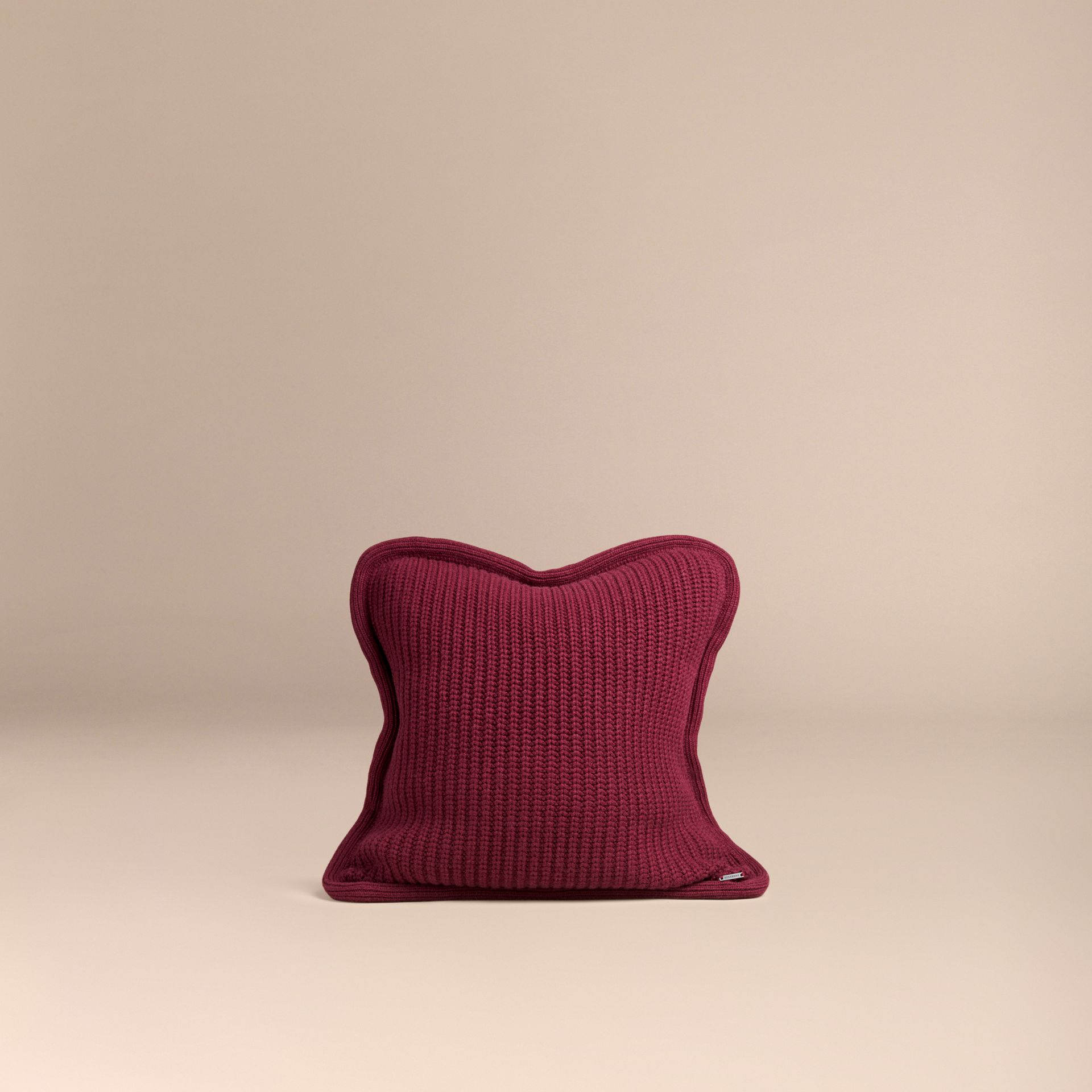 Deep claret Knitted Cashmere Cushion Cover Deep Claret - gallery image 3