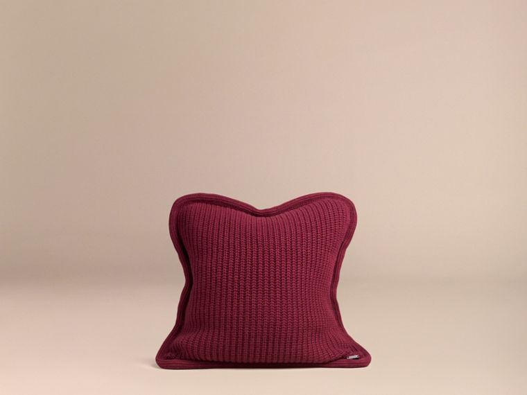 Deep claret Knitted Cashmere Cushion Cover Deep Claret - cell image 2