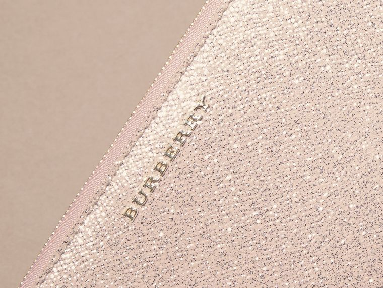 Glitter Patent London Leather Ziparound Wallet in Pale Orchid - cell image 1