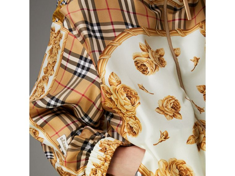 Vintage Check and Archive Scarf Print Jumpsuit in Antique Yellow - Women | Burberry United Kingdom - cell image 4