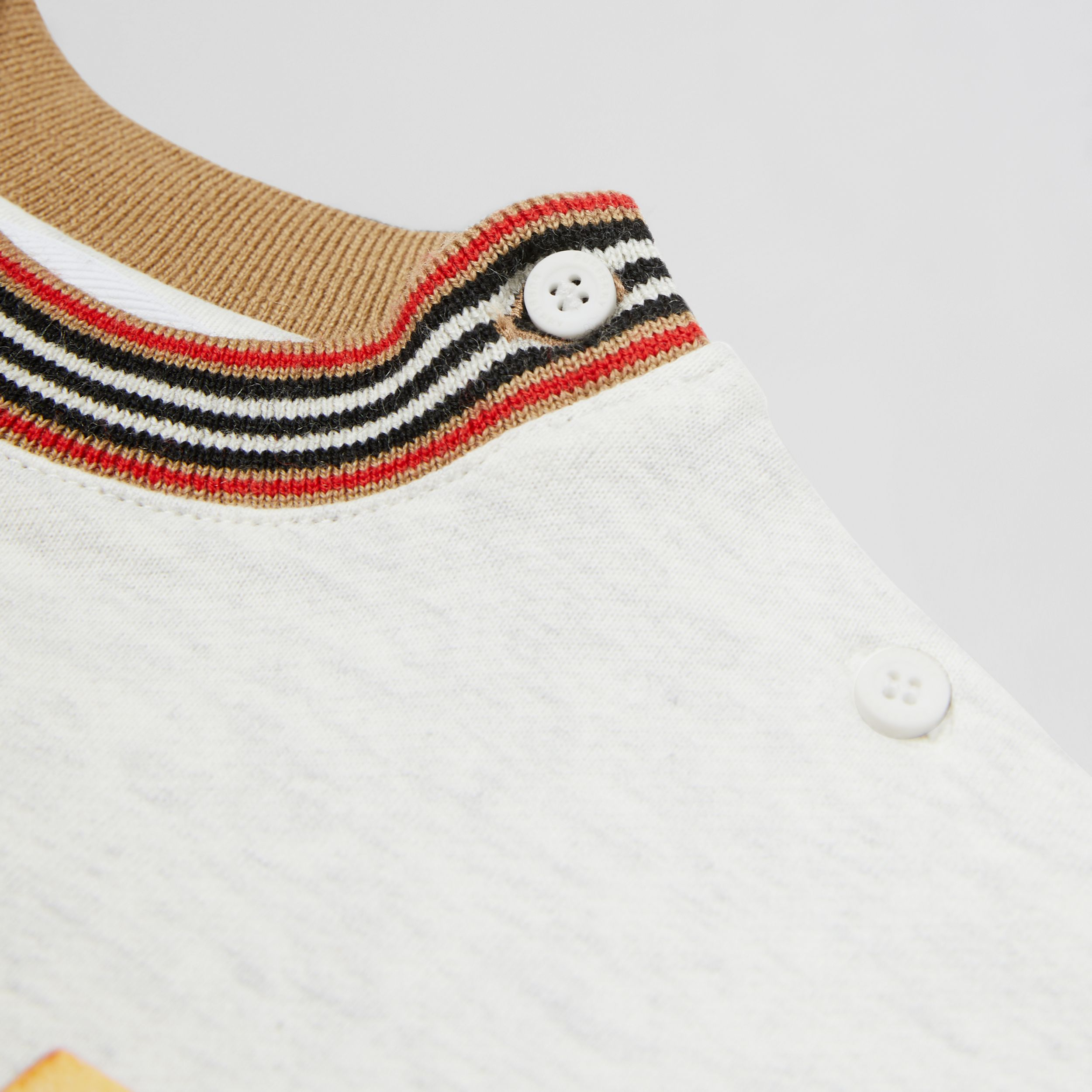 Confectionery Logo Print Cotton Sweatshirt in White Melange - Children | Burberry - 2