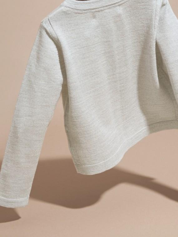 Light grey melange Lightweight Merino Wool Cardigan Grey Melange - cell image 3