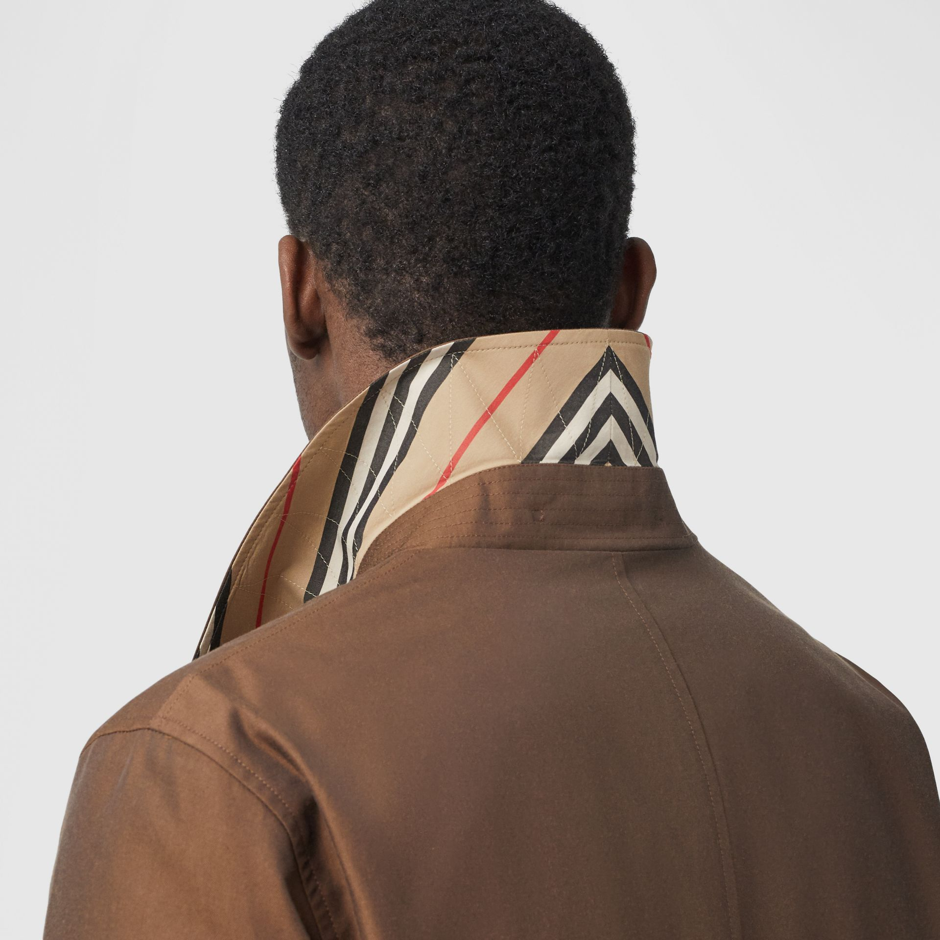 The Pimlico Heritage Car Coat in Amber Brown - Men | Burberry Canada - gallery image 5