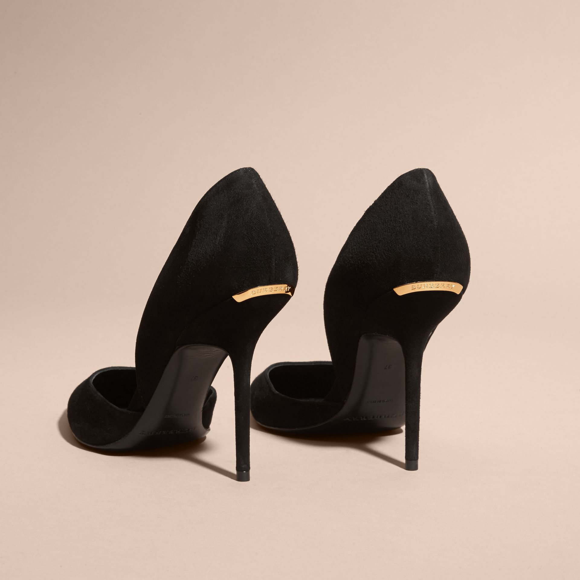 Point-toe Suede D'Orsay Pumps - gallery image 5