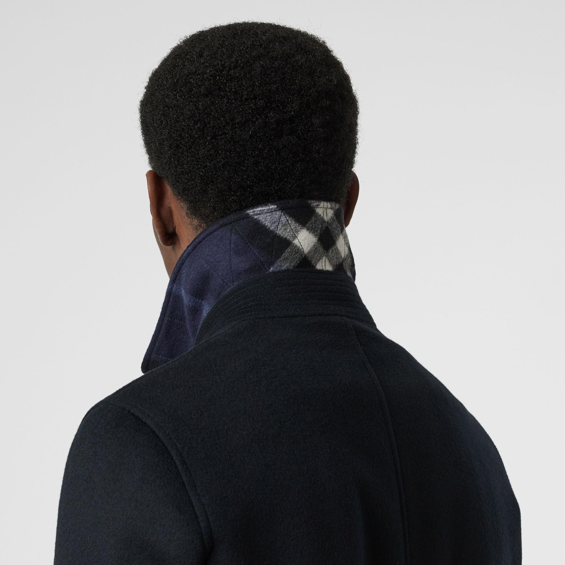 Wool Cashmere Car Coat in Navy - Men | Burberry United Kingdom - gallery image 4