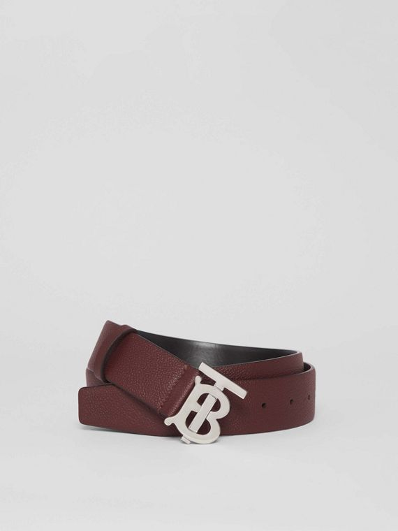 Monogram Motif Leather Belt in Oxblood