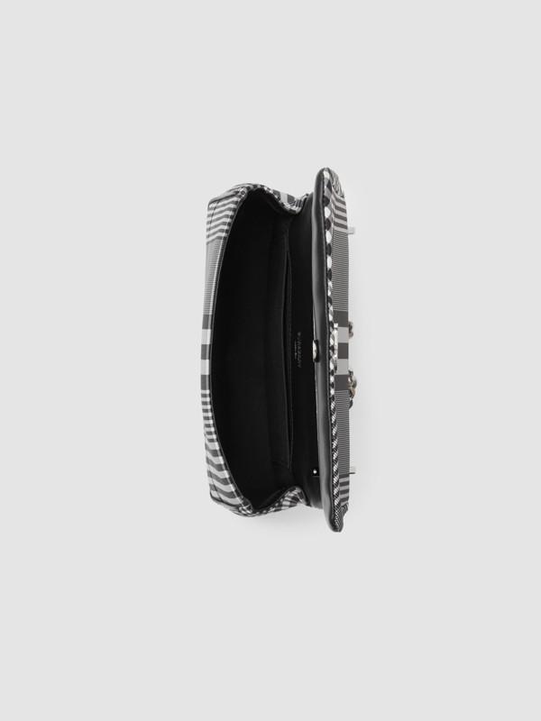 Small Check Nylon Lola Bag in Black/white - Women | Burberry Canada - cell image 3
