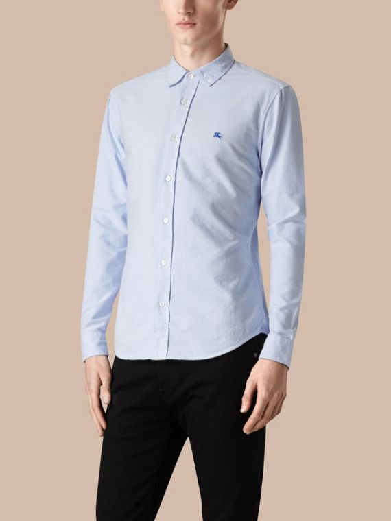 Pale blue Camisa Oxford de algodão Pale Blue - cell image 3
