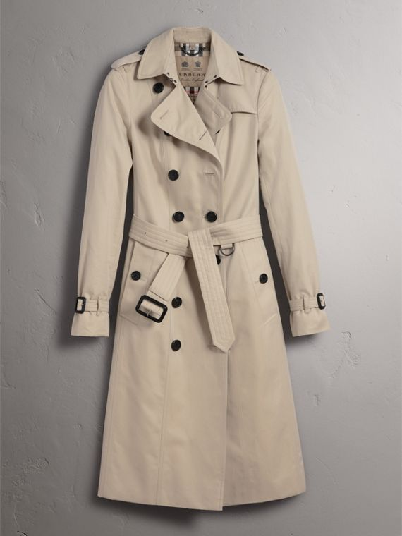 The Sandringham – Extra-long Trench Coat in Stone - Women | Burberry Singapore - cell image 3