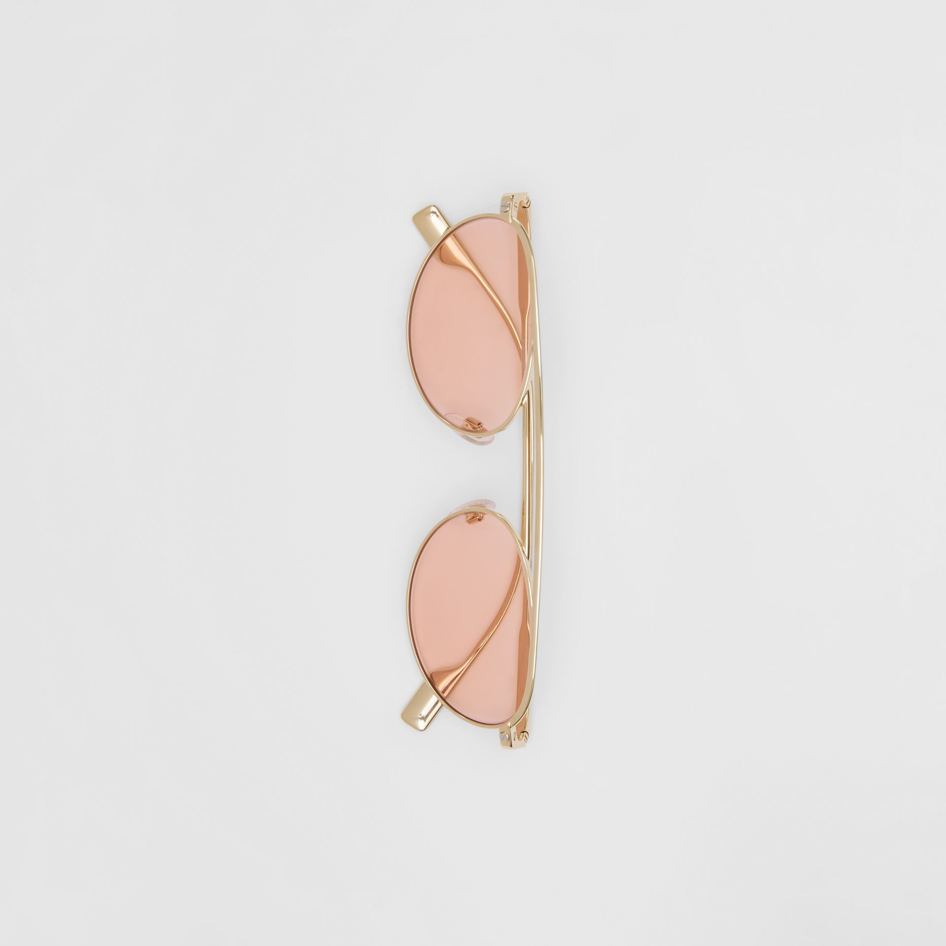 Oval Frame Sunglasses in Light Pink - Women | Burberry - gallery image 3