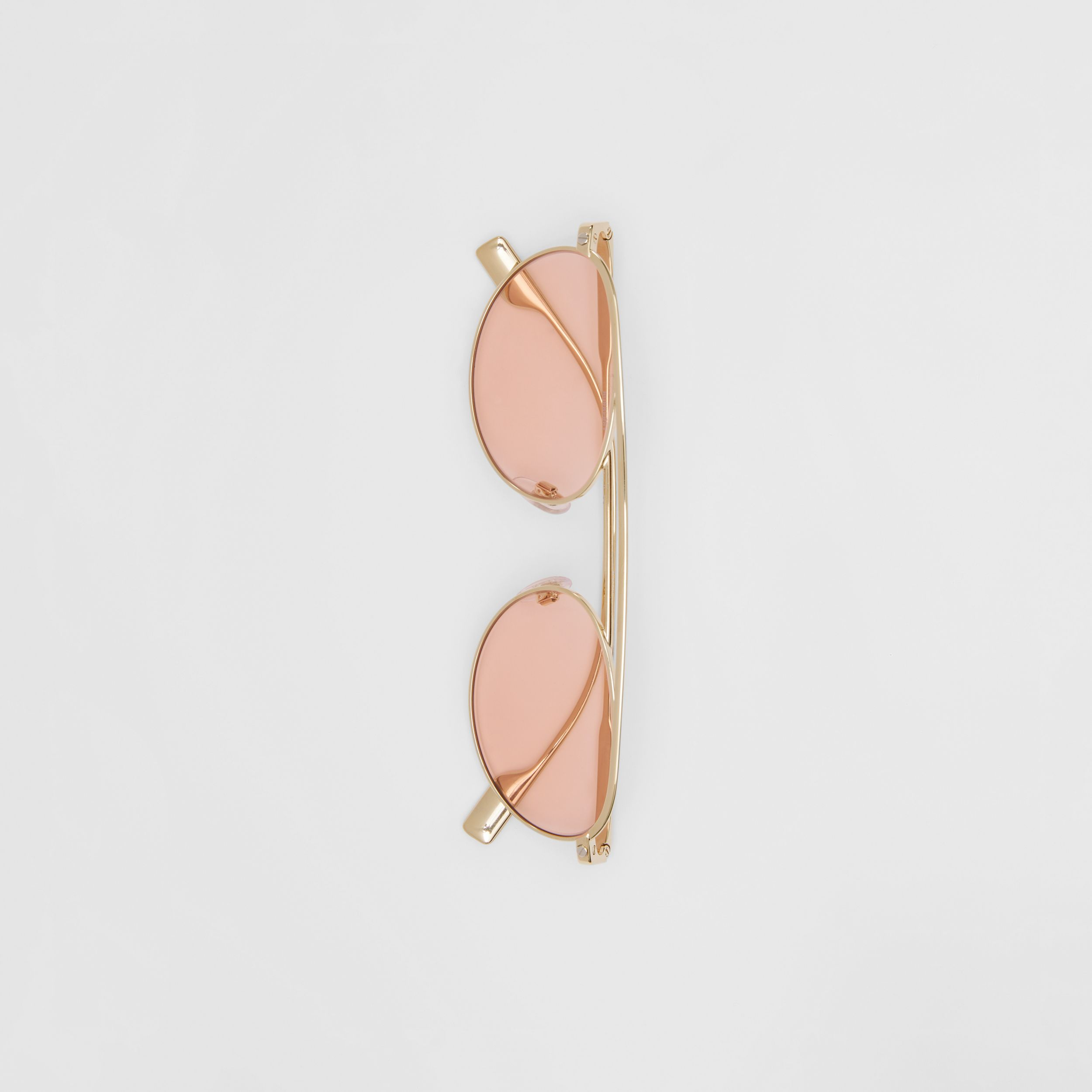 Oval Frame Sunglasses in Light Pink | Burberry - 4