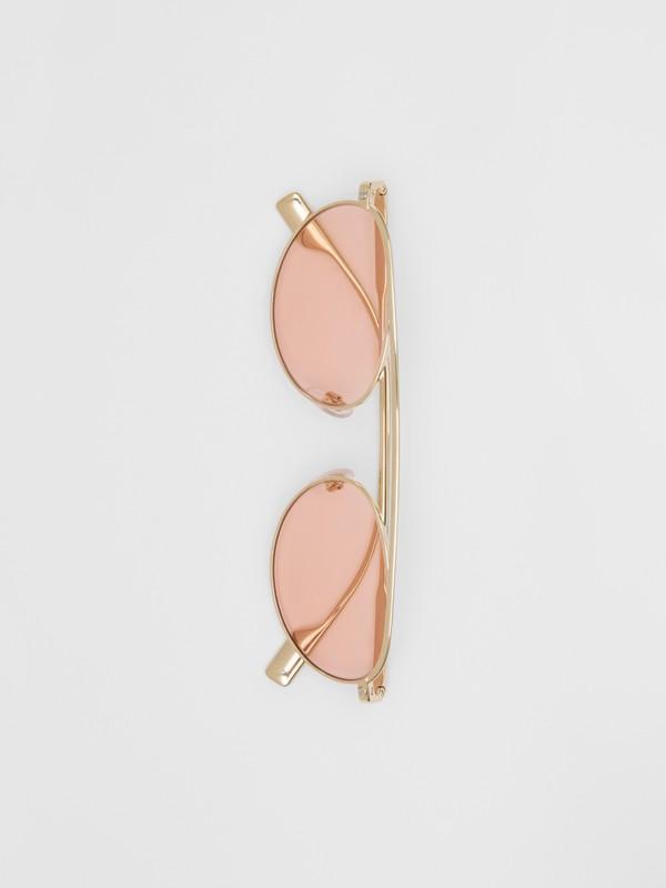 Lunettes de soleil à monture ovale (Rose Clair) - Femme | Burberry Canada - cell image 3