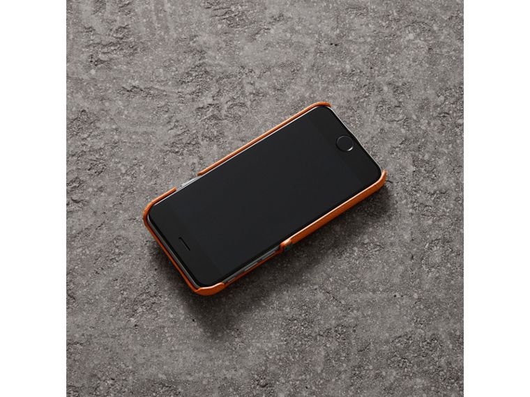 Creature Appliqué Leather iPhone 7 Case in Clementine - Men | Burberry - cell image 2