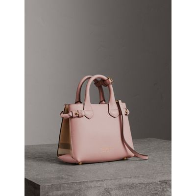 Burberry - The Baby Banner en cuir et coton House check - 1