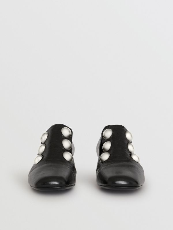Stud Detail Patent Leather Pumps in Black - Women | Burberry - cell image 3