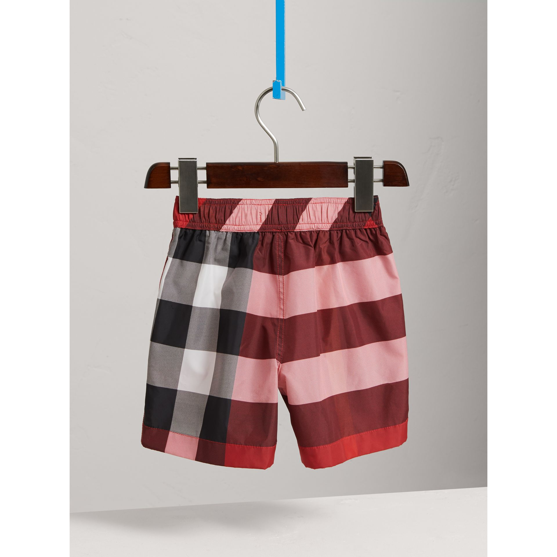 Check Swim Shorts in Parade Red - Boy | Burberry - gallery image 4