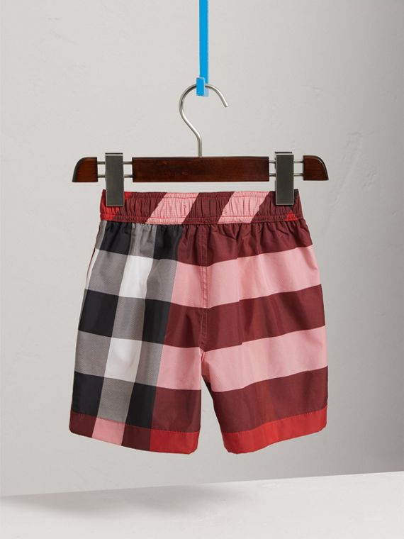 Check Swim Shorts in Parade Red - Boy | Burberry United States - cell image 3