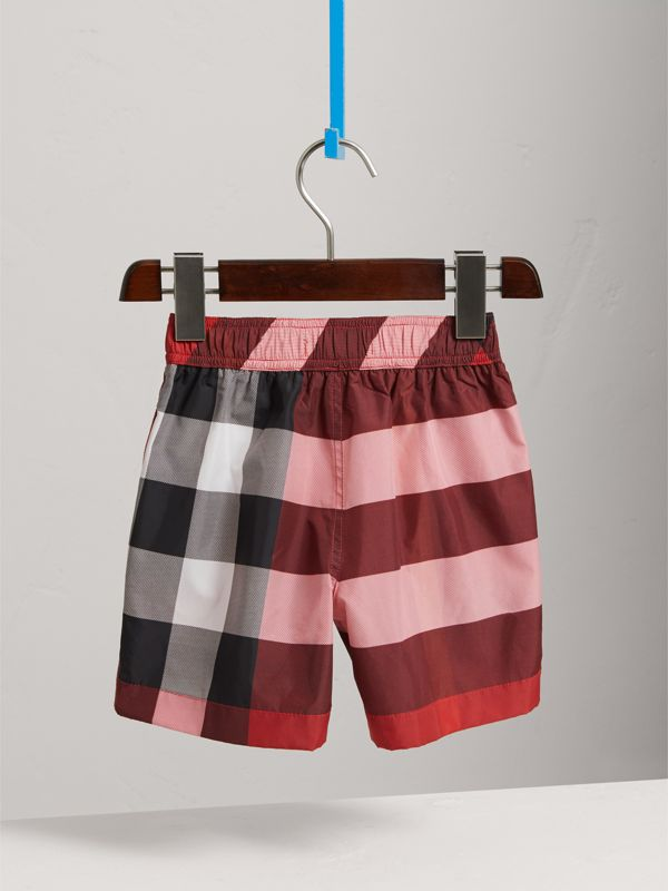Check Swim Shorts in Parade Red - Boy | Burberry - cell image 3