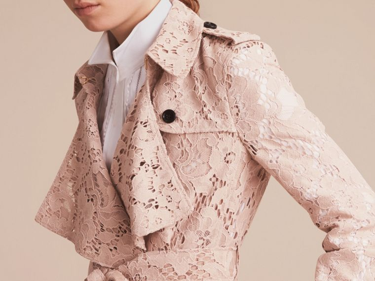Macramé Lace Wrap Trench Coat - cell image 4