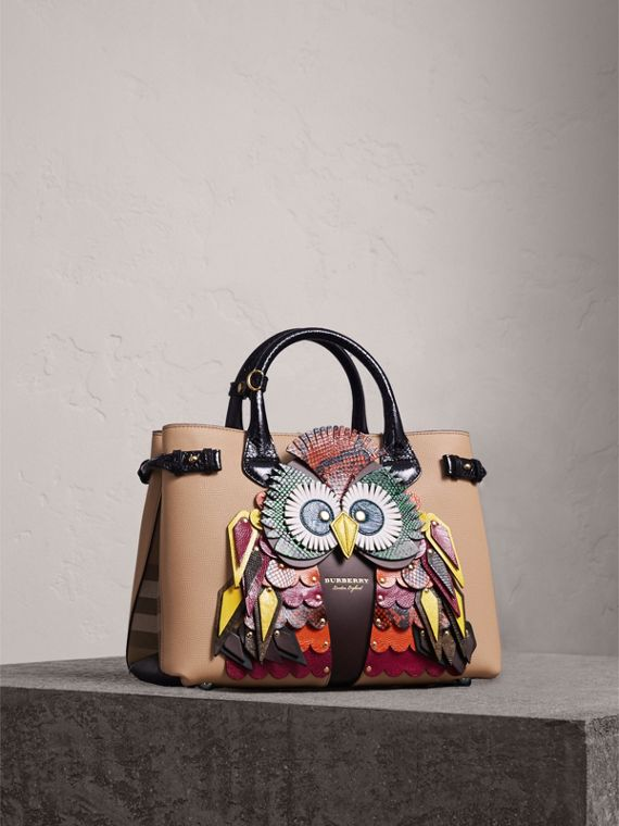 The Medium Banner in Leather with Beasts Motif - Women | Burberry
