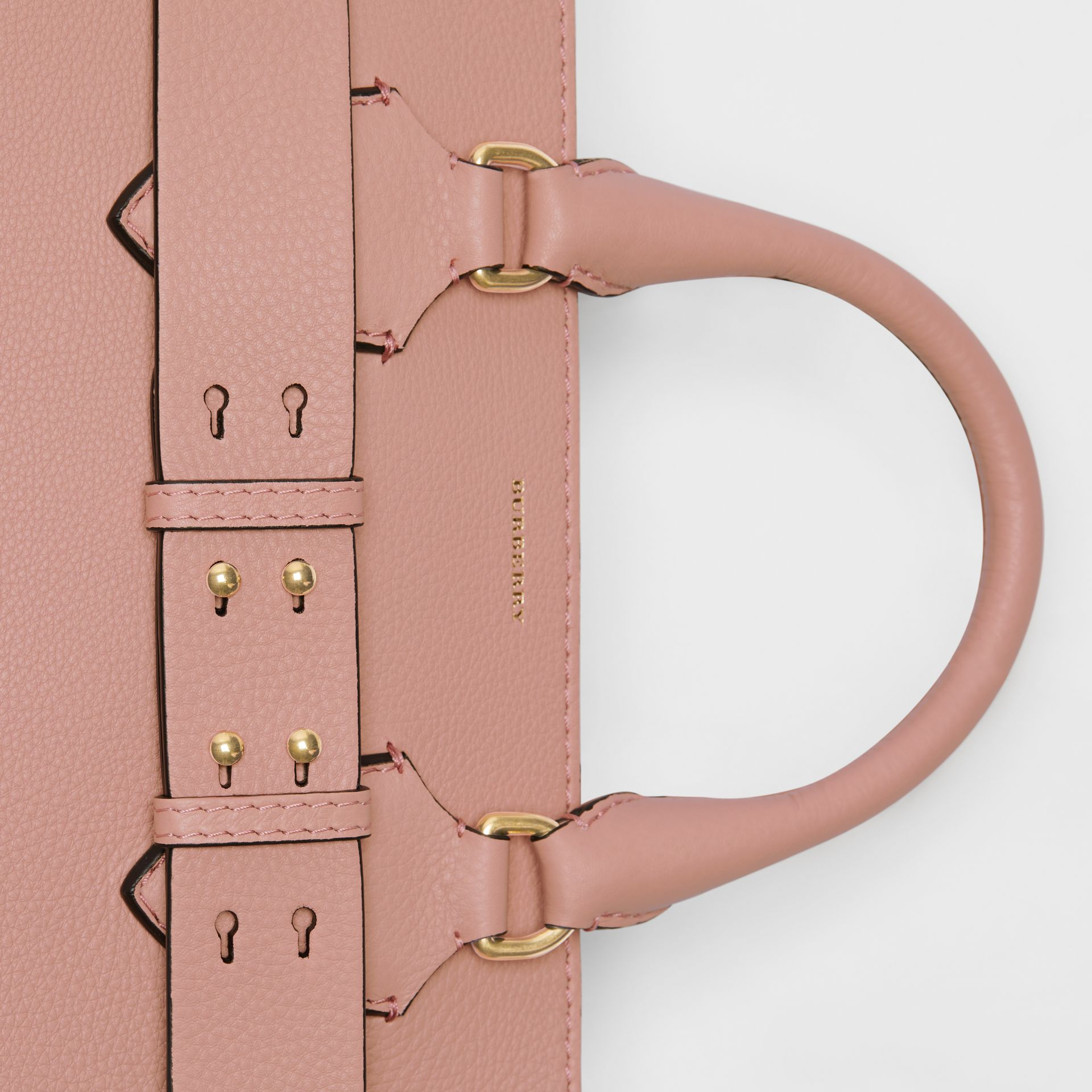The Medium Leather Belt Bag in Ash Rose - Women | Burberry United Kingdom - gallery image 1
