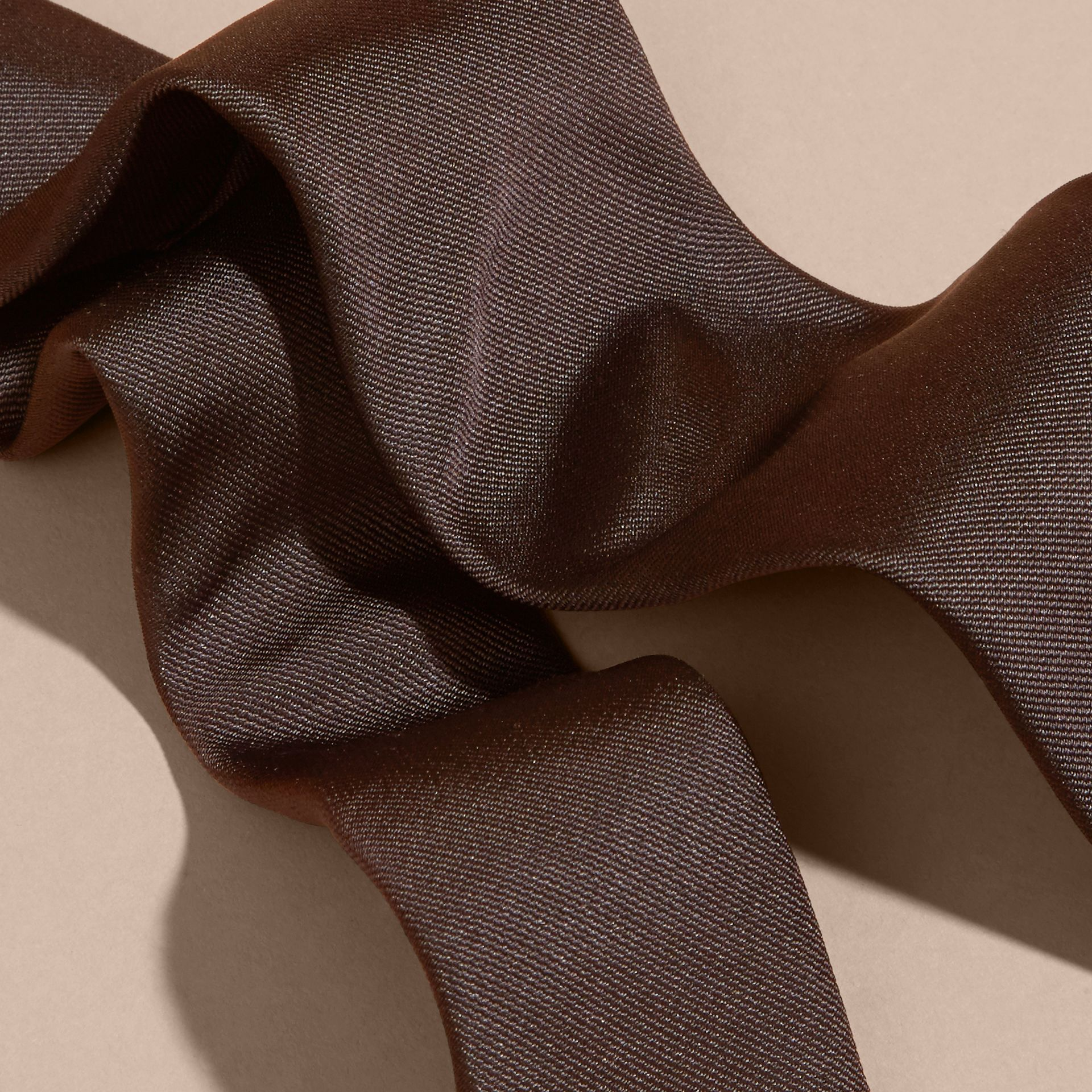 Charcoal Modern Cut Silk Twill Tie Charcoal - gallery image 2