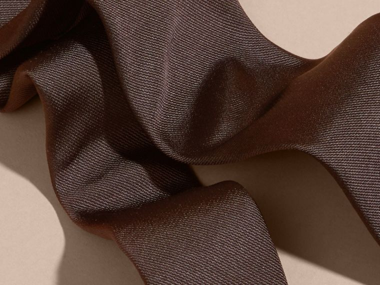Charcoal Modern Cut Silk Twill Tie Charcoal - cell image 1