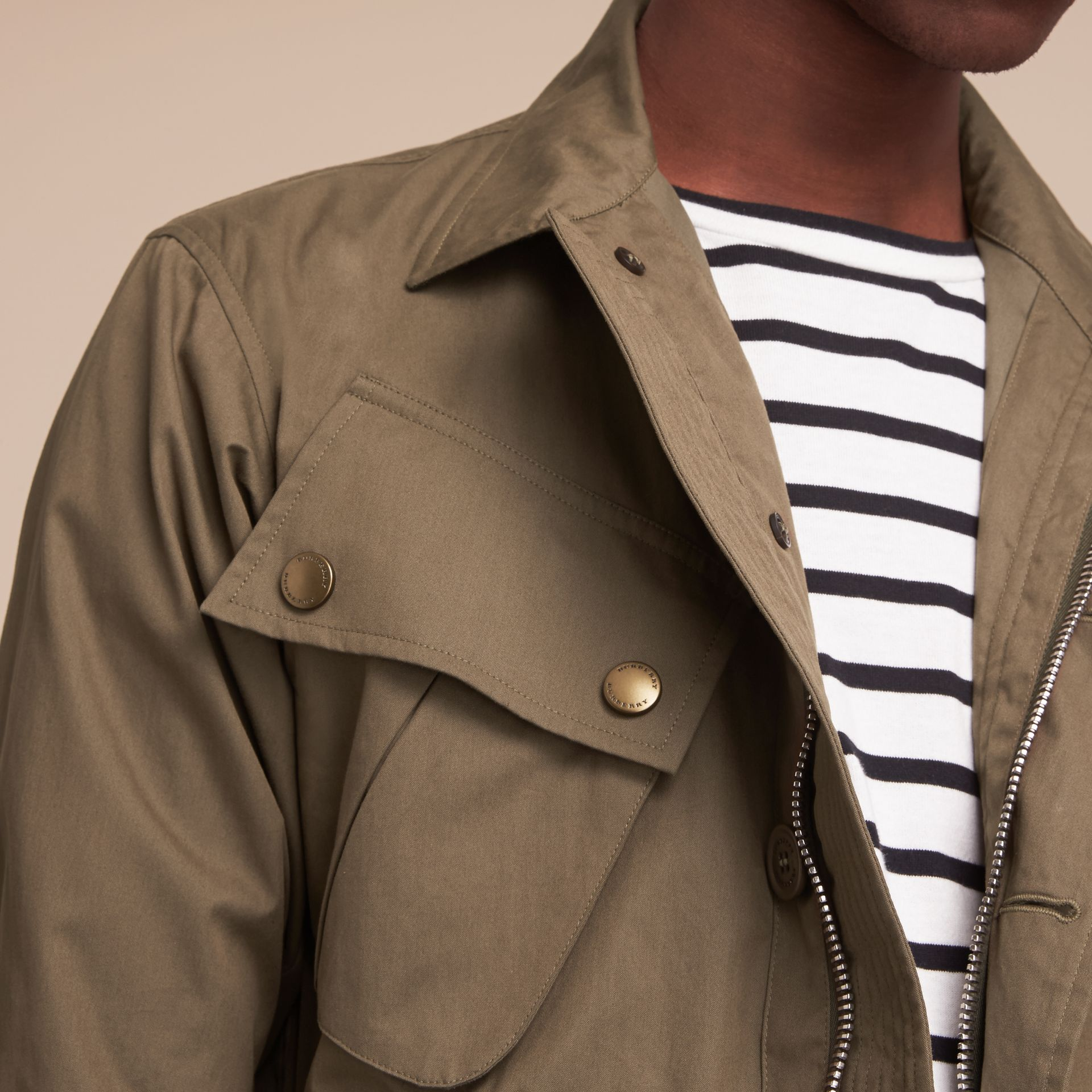 Technical Cotton Canvas Field Jacket - gallery image 5