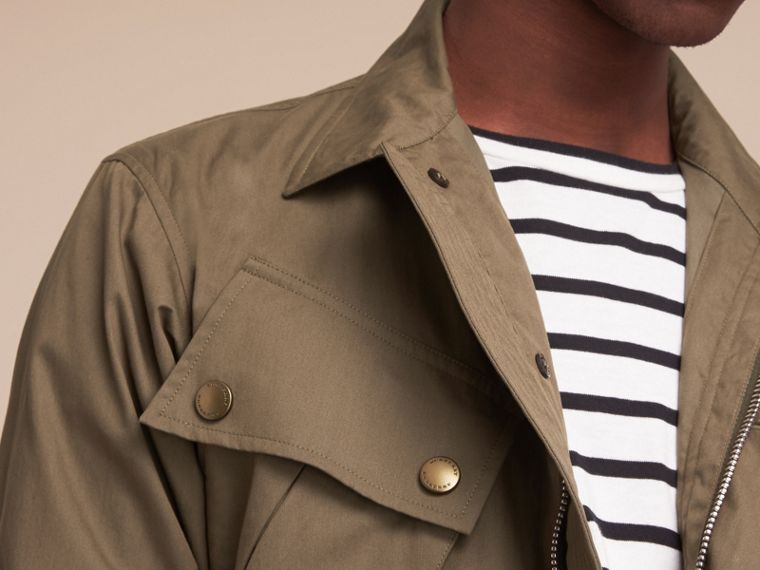 Technical Cotton Canvas Field Jacket - cell image 4