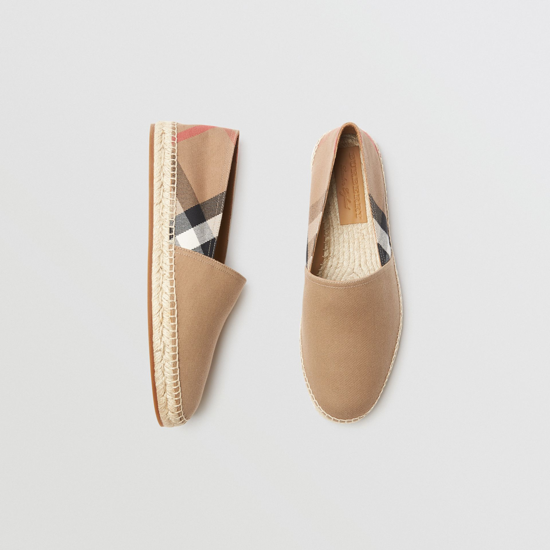 Canvas Check Espadrilles in Classic - Men | Burberry Australia - gallery image 0