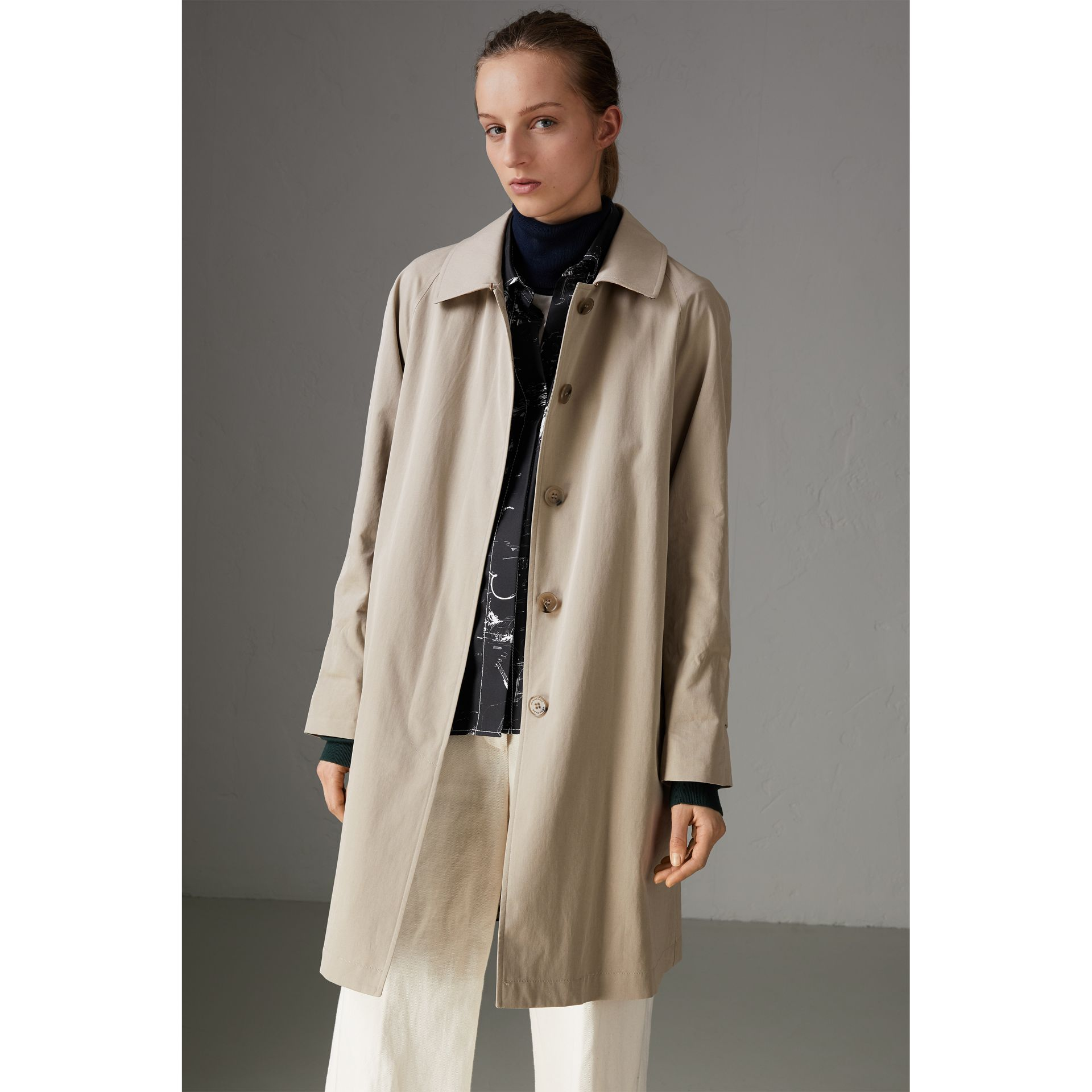 The Camden – Long Car Coat in Sandstone - Women | Burberry Australia - gallery image 5