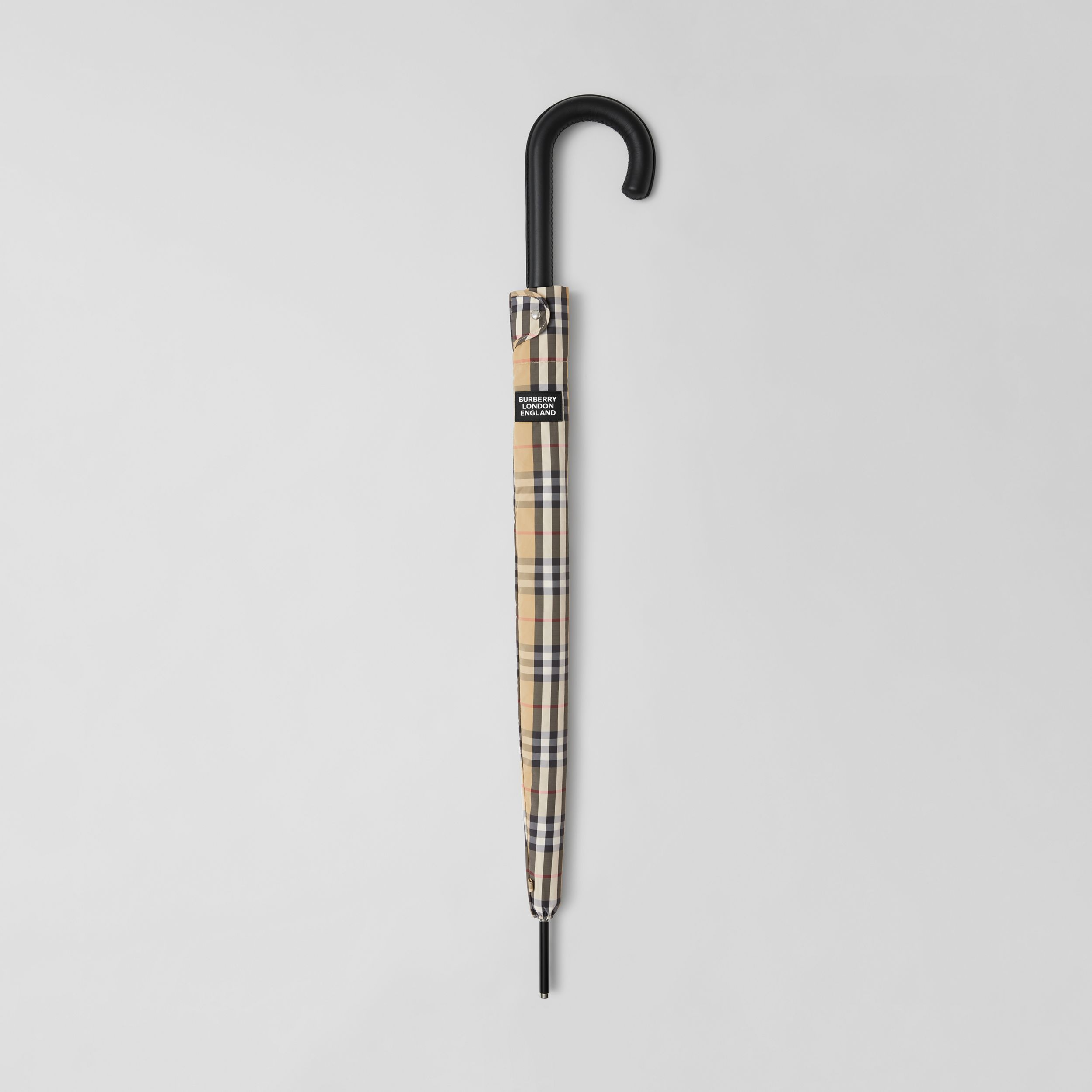 Vintage Check Umbrella in Archive Beige | Burberry - 1
