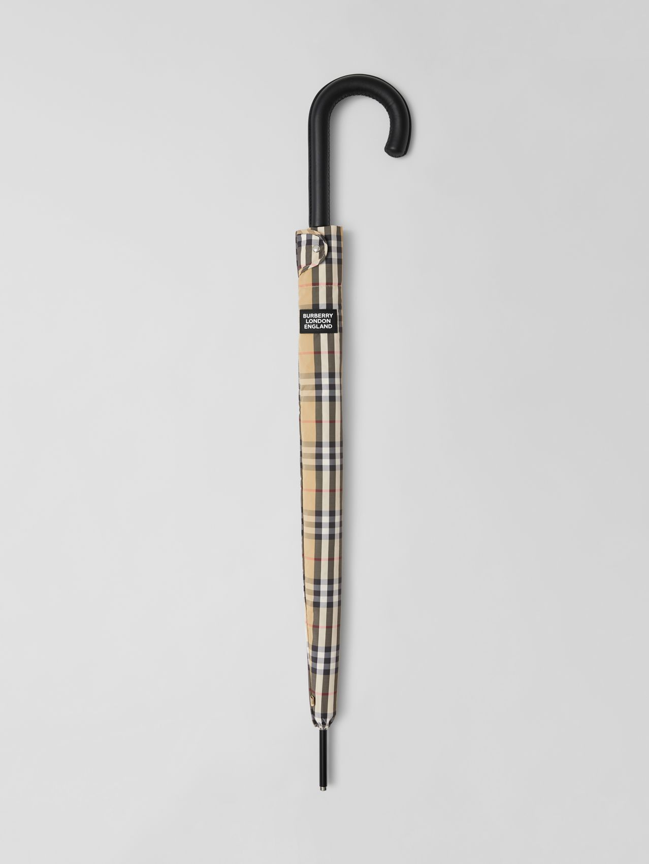 Vintage Check Umbrella in Archive Beige