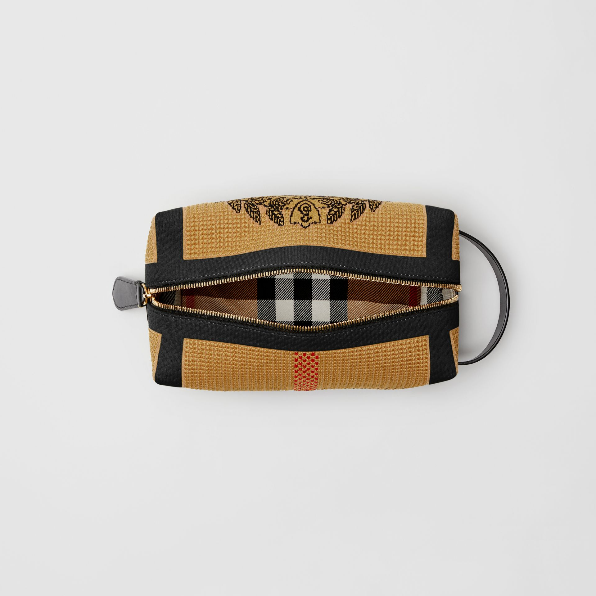 Archive Crest Knitted Pouch in Black | Burberry United States - gallery image 5