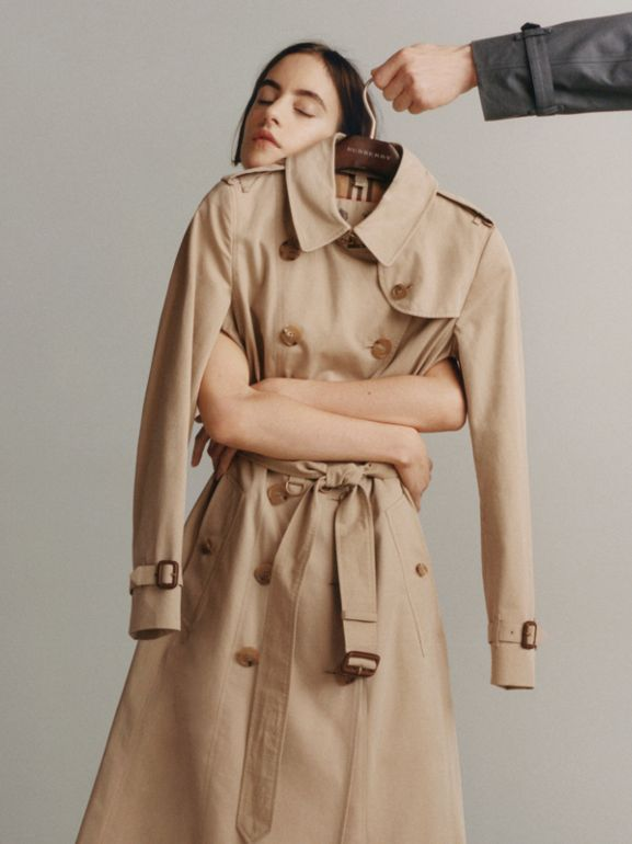 The Long Westminster Heritage Trench Coat in Honey - Women | Burberry - cell image 1