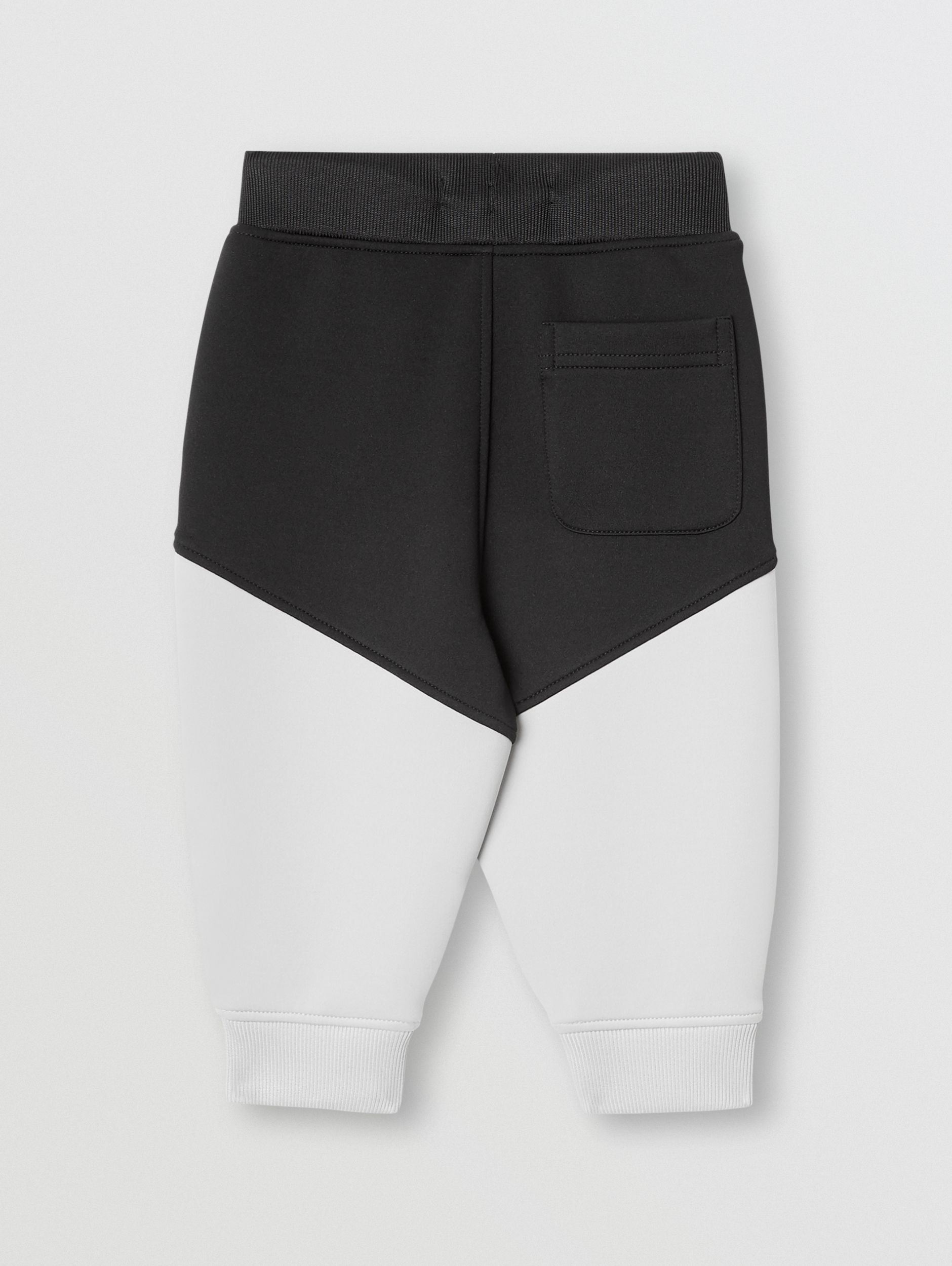 Logo Print Two-tone Stretch Jersey Trackpants in Black - Children | Burberry Singapore - 4