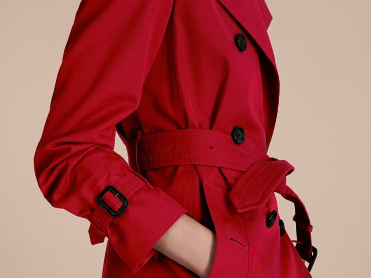 Rojo desfile Trench coat Kensington - Trench coat Heritage largo Rojo Desfile - cell image 4