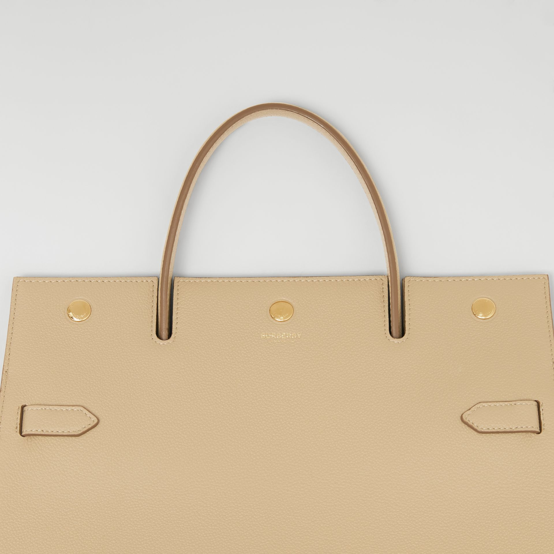 Medium Leather Title Bag in Honey - Women | Burberry United Kingdom - gallery image 8